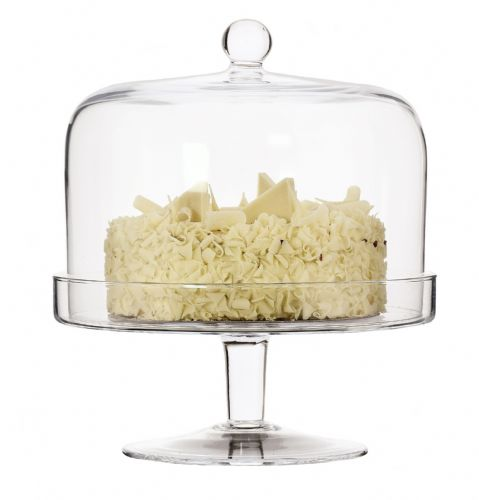 Glass Cake Stand &  Dome 29cm